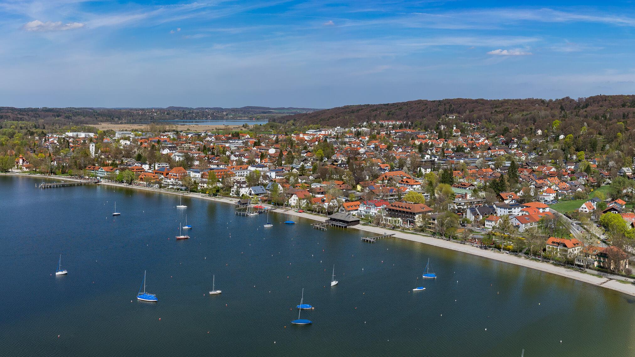 Luftbild Ammersee mit Herrsching