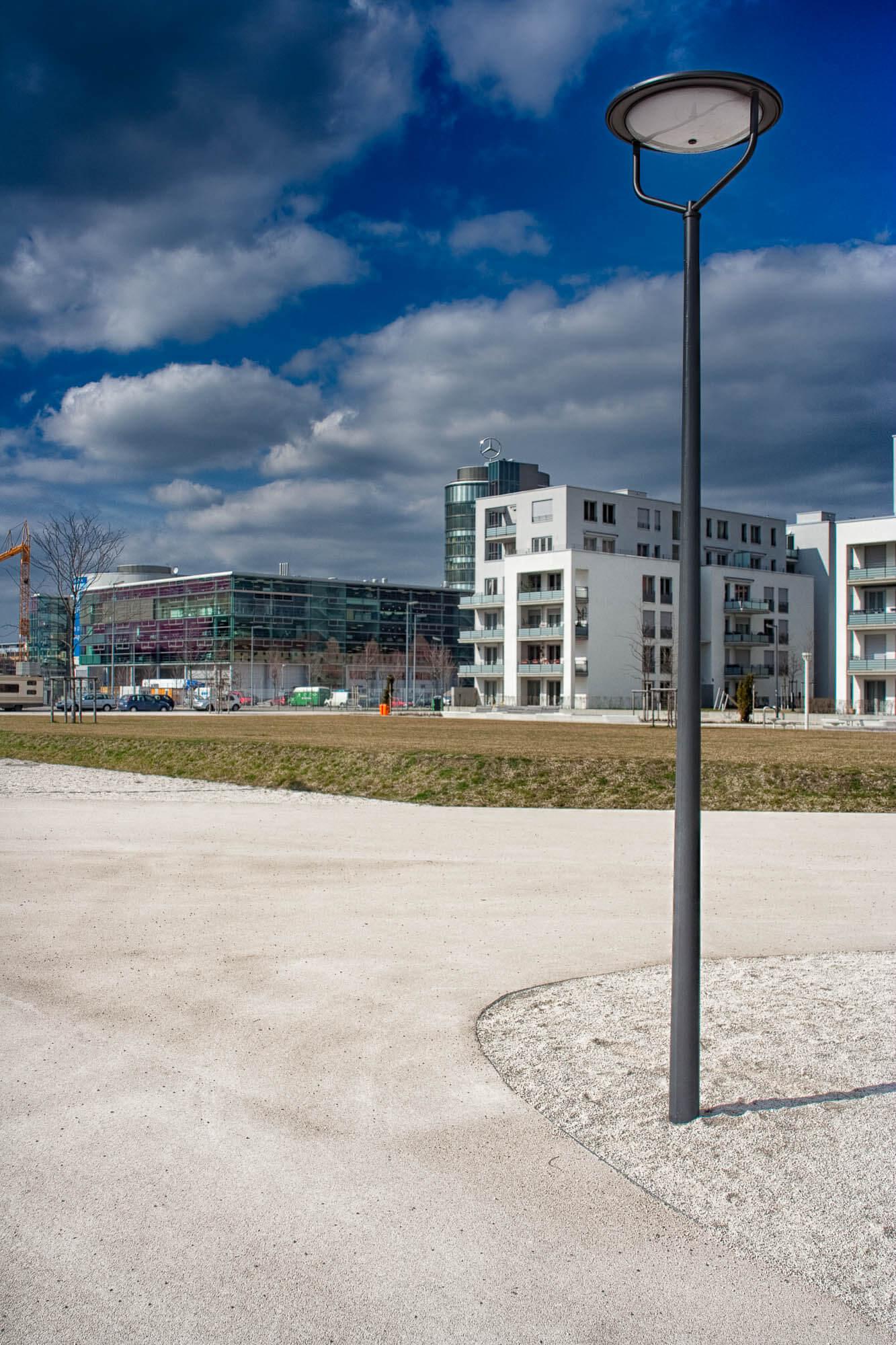 Landschaftsfotografie im städtischen Raum, München Arnulfpark