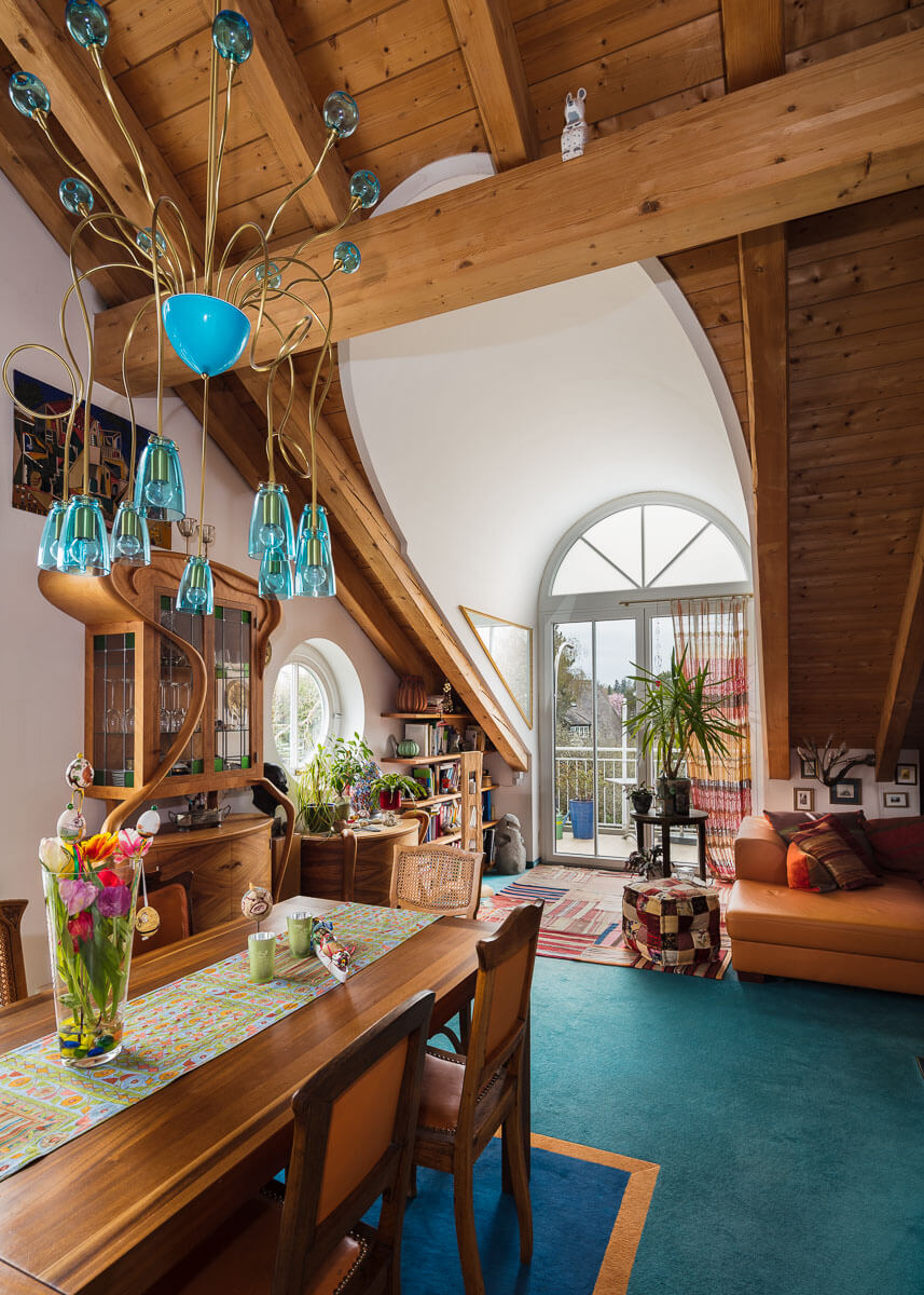 Interieurfotografie Wohnen unter dem Dach
